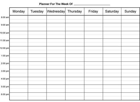 fill  printable weekly calendar sheets google search