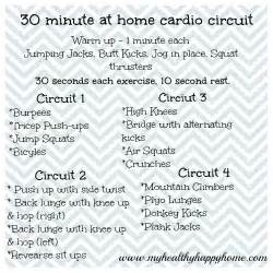 30 minute at home cardio circuit fitness