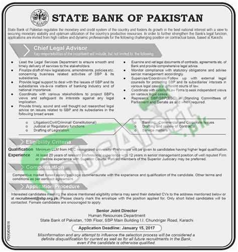 state bank of pakistan in sbp bank 2017 current openings add in pakistan