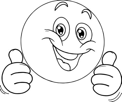 smiley coloring page thumbs up smiley coloring page sketch coloring page