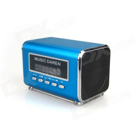 Mini Speaker Mp3 Player ks300 portable 1 9 quot lcd mini speaker mp3 player w usb tf fm radio blue free shipping