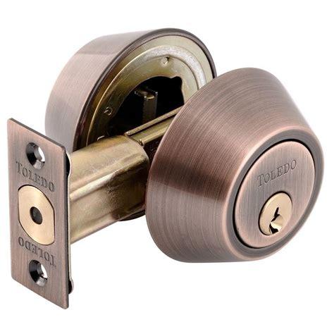 schlage cylinder aged bronze deadbolt b62n v 716