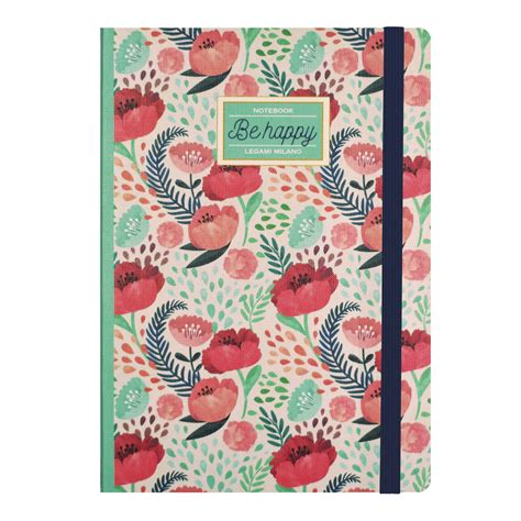 Be Happy Notebook legami notitieboek be happy xl my lovely notebook