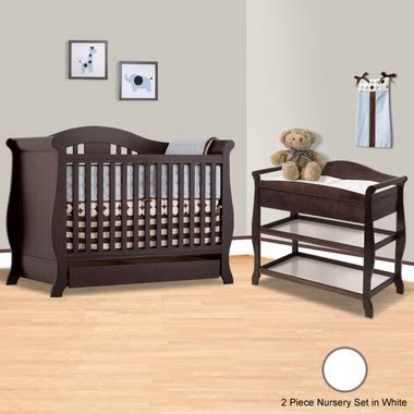 White Crib And Changing Table Set by Storkcraft White Vittoria 3 In 1 Convertible Crib And