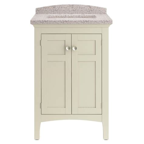 cream bathroom vanity shop allen roth brisette cream undermount single sink