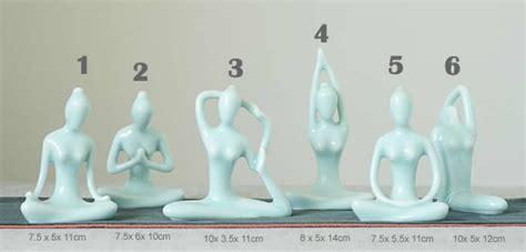 decorative ceramic yoga poses figurine sculpture feelgift
