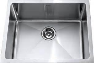 Single Bowl Stainless Steel Kitchen Sinks Kraus Khu101 23 23 Inch Undermount Single Bowl 16 Stainless Steel Sink Modern Kitchen