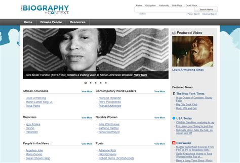 biography in context website featured resource gale virtual reference collection