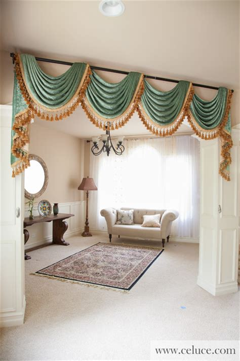 modern swag curtains green chenille swag valance curtains modern living