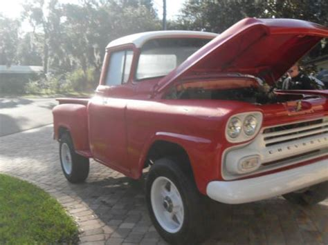 sell used 1959 chevy apache 4x4 truck custom in