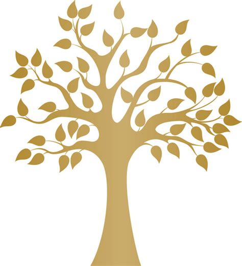 Tree Branch Home Decor by Modern Golden Tree Wall Decal Contemporary Wall Decals