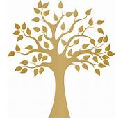 Modern Golden Tree Wall Decal  Contemporary Decals
