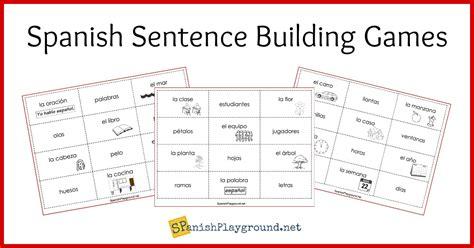 printable word building games spanish sentence building games spanish playground