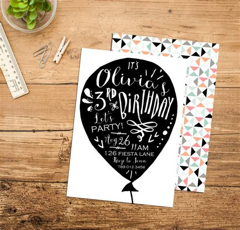 Birthday Cards In Black And White