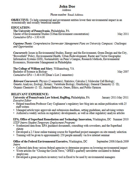 grad school resume formatgh student with no work experience pdf