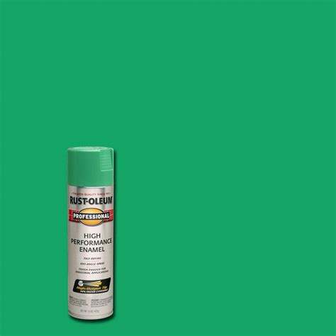rust oleum professional 15 oz gloss safety green spray paint of 6 7533838 the home depot