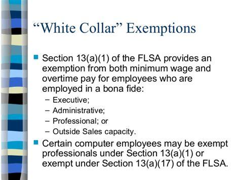 Flsa Section 7 by Flsa Exemptions