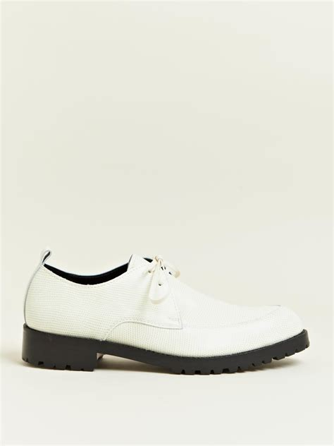 comme des garcons mens sneakers comme des gar 231 ons mens commando sole shoes in white for