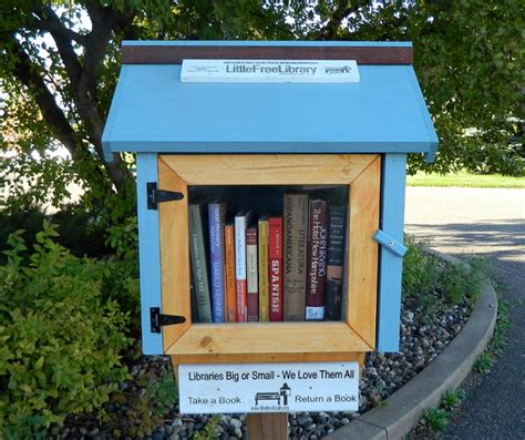 ultimate book recycling with free library porch