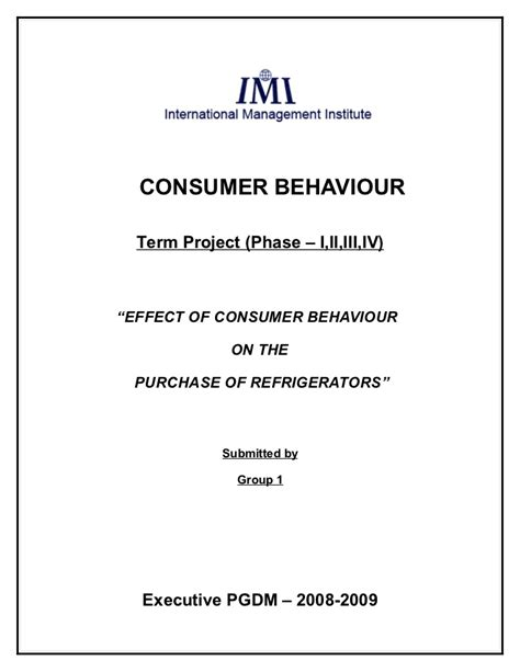 dissertation on consumer buying behaviour thesis on impact of advertising on consumer buying behaviour