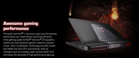 Asus Rog G751jt Db73 Gaming Laptop asus g751jt wh71 wx 17 3 034 i7 4720hq 16gb ddr3 1tb gtx 970m gaming laptop ebay