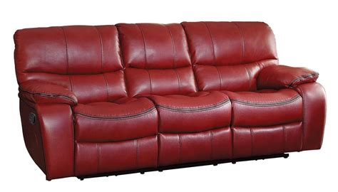red reclining sofa red recliner sofa talbot modern red leather recliner sofa