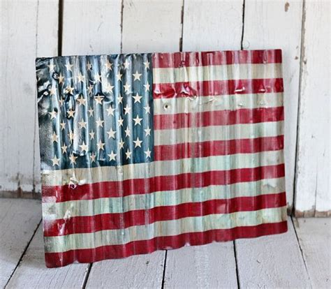 rustic american flag wall art tipsdesainkuclub home american flag reclaimed painted and distressed metal