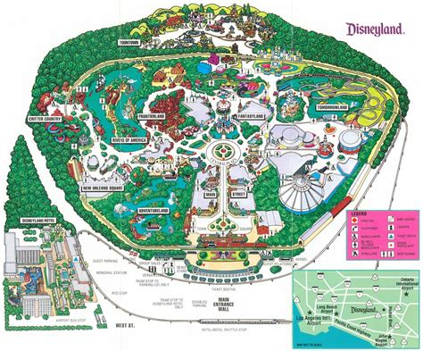 printable maps disneyland theme park brochures disneyland theme park brochures