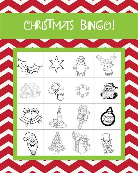 printable holiday bingo cards with pictures printable christmas bingo cards