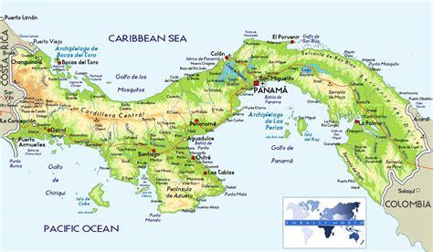 physical map of panama pin mapa panam 225 city on