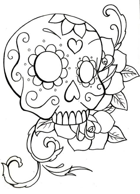 skull crossbones coloring pages coloring home