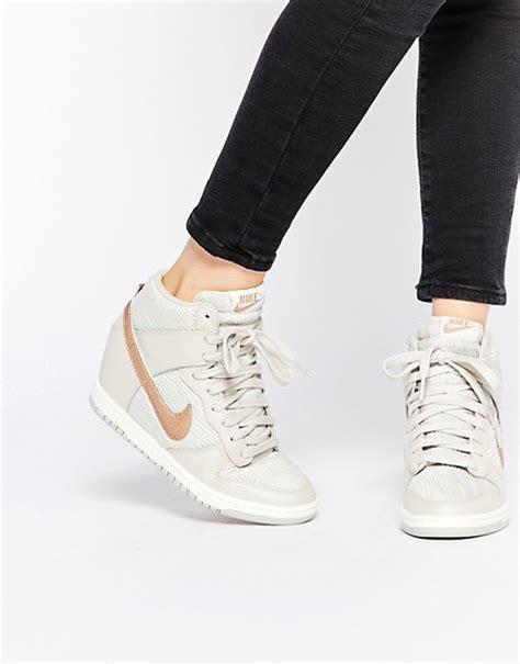 Sneakers Wedges Nike Sky High Dunk Grade Ori nike nike dunk sky hi white wedge trainers