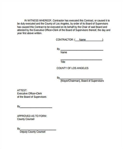 small contract template 38 sle free contract forms