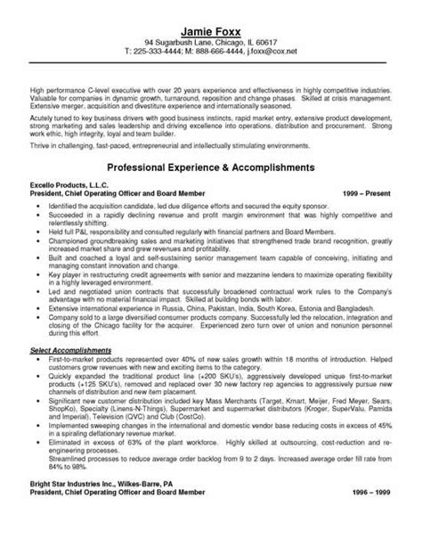 Executive Officer Sle Resume by Resume Chief Administrative Officer 28 Images Resume Sles Chief Administrative Officer Cao