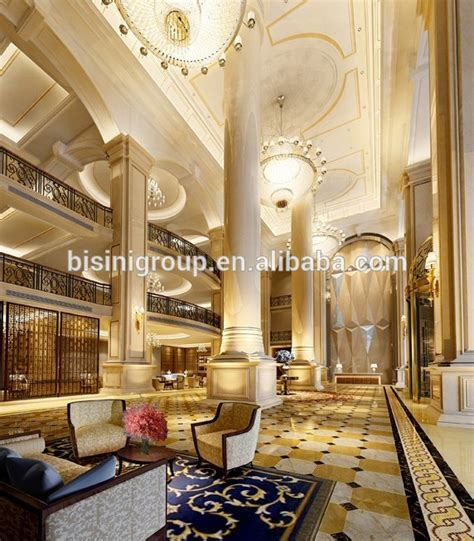 luxury elegant palace hotel design of 3d rendering plan