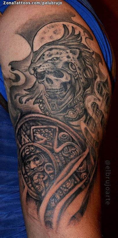 imagenes calaveras aztecas tatuaje de aztecas brazo guerreros