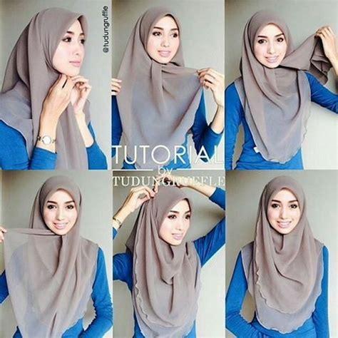 tutorial hijab bawal cara melilit tudung bawal dengan mudah projek untuk