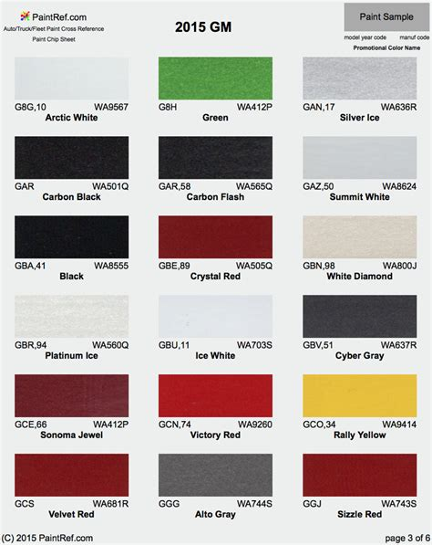 2015 chevy gmc truck paint colors autos post