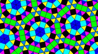Versions of a tessellation using squares and equilateral triangles