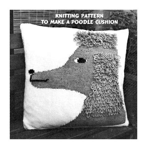 Instan Pet Polos instant pdf knitting pattern to make a poodle