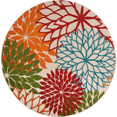 10 Ft By 7 Ft Rugs - nourison aloha green 7 ft 10 in x 7 ft 10 in indoor