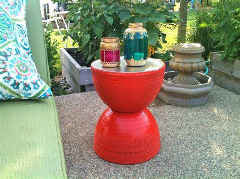Diy Patio Side Table diy outdoor table ideas for garden improvement