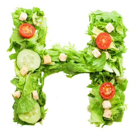 h vegetables letter h with fresh tomatoes photo free