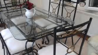 glass dining table 6 chairs glass dining table and 6 chairs 163 50 00 picclick uk