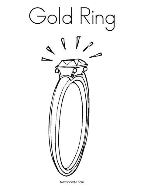gold ring coloring page twisty noodle