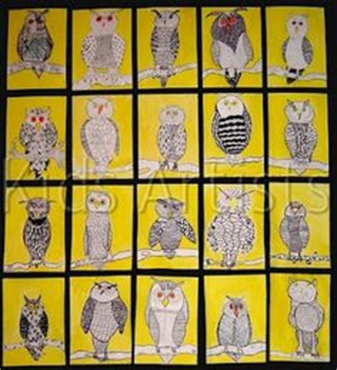kindergarten lesson on texture and pattern owls 1000 images about birds art projects for kids on pinterest