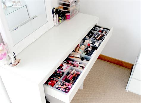 ikea malm dressing table makeup and storage ideas