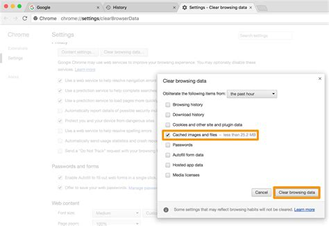 chrome clear cache cara hapus web browsing cache insightmac