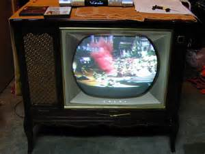 colored tv rca model ctc 7 color television 1958