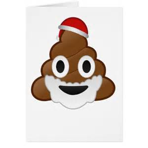 Funny christmas santa poop emoji card zazzle